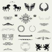 éléments de dessin calligraphique — Photo
