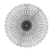 Decorative black and frame with vintage round patterns on white — Foto de Stock