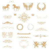 Gold calligraphic design elements — Stock Photo