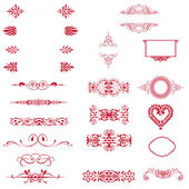 Calligraphic design elements and page decoration. — Stock Photo