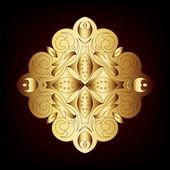 Eleganten goldenen Rahmen Banner... — Stockfoto