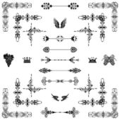 Vector set of decorative horizontal floral elements — Stockfoto