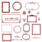 Vintage frame, ornament and element for decoration and design. — 图库照片