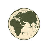 Green Globe Icon — Stock Photo