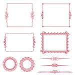 Vector set of decorative horizontal elements, border and frame! — Stock Photo