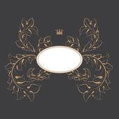 Mörka formella kortdesign som är bäst för bröllop, evenemang, jul — Stockfoto