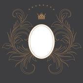 Dark formal card design best for wedding, events, christmas. — Stock Photo