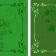 Template design for invitation with damask ornaments. — Foto Stock