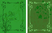 Template design for invitation with damask ornaments. — Stock Photo