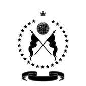 Elegante schwarze rahmen banner mit krone!!! — Stockfoto