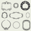 Stock Photo: Set of vintage frames and design elements.