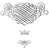 Eleganten rahmen banner mit krone — Stockfoto