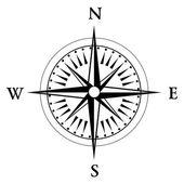 Bússola preta rosa isolado no routine - vector — Fotografia Stock