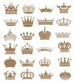 皇冠集合! — 图库照片