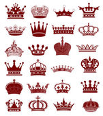 Crown collection — Stock Photo