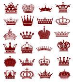 Kolekcja korona — Zdjęcie stockowe