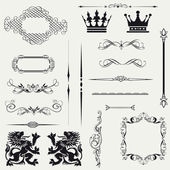 Vector set calligraphic element and page decoration.. — Stock Photo