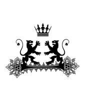 Elegant zwart frame banner met kroon! — Stockfoto