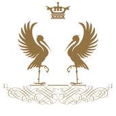 Elegante goldrahmen banner mit krone!!! — Stockfoto
