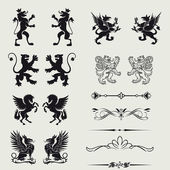 Borders and elements for design... — Stock Photo