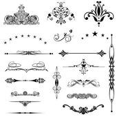 Vector set calligraphic element and page decoration... — Stockfoto