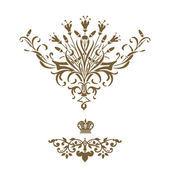 Elegant gold frame banner with crown! — Stock Photo