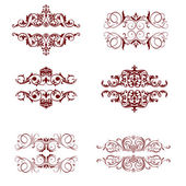 Vector set calligraphic element and page decoration!! — Stock Photo