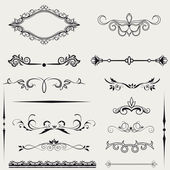 Vector set calligraphic element and page decoration.. — Foto Stock