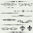 Calligraphic element and page decoration.. - Stok fotoğraf