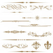 Calligraphic element and page decoration. - Stok fotoğraf