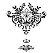 Elegant dlack frame banner with crown — Stock Photo
