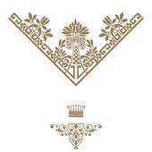 Banner elegante montatura in oro con corona.. — Foto Stock