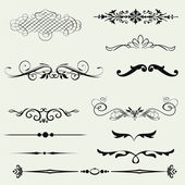 Vector set calligraphic element and page decoration. — Stock Photo