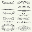 Vector set calligraphic element and page decoration.. — Stock Photo #24686997