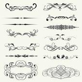 Vector instellen kalligrafische element en pagina decoratie — Stockfoto