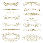 Vector set calligraphic element and page decoration... — Stock Photo