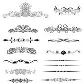 Vector set calligraphic element and page decoration — Stock Photo