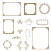 Set of decorative frame.. — Foto Stock