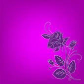 鲜花贺卡,抽象的背景.. — 图库照片