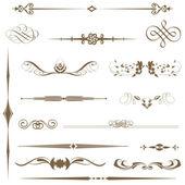 Vector conjunto caligráficos página y elemento de decoración. — Foto de Stock