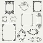 Set of decorative frame. Vector illustration! — 图库照片