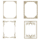 Set of decorative frame. Vector illustration. — Stock fotografie
