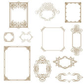 Set of decorative frame. Vector illustration!! — 图库照片