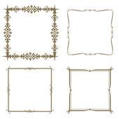 Set of decorative frame. Vector illustration. — Stock Photo