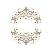 Elegant frame banner, floral elements on the ornate background. — Stock Photo