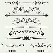 边界和设计元素。矢量. — 图库照片