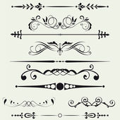 Borders and elements for design. Vector. — 图库照片