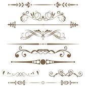 Element för design och gränser. — Stockfoto