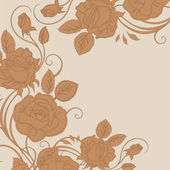 Wedding card or invitation with abstract floral background. — Stock Photo