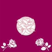 Mooie bloemen uitnodigingskaarten!! — Stockfoto